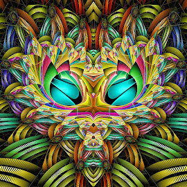 Escher Flux Heart by Peggi Wolfe - Illustration Abstract & Patterns ( digital, gift, color, wolfepaw, jwildfire, bright, pattern, abstract, décor, heart, print, unique, fractal, flux, illustration, escher, unusual, fun )