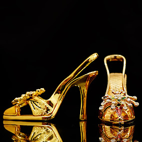 Golden High Heels by Musashi Vai - Artistic Objects Antiques