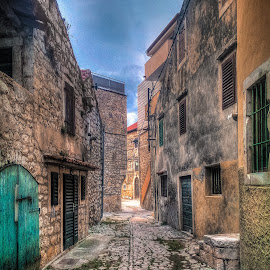 Pirovac Old Town by Branko Meic-Sidic - City,  Street & Park  Street Scenes ( hystorical, oldtown, hdr, beautiful, street, croatia, stonehouses, colours, pirovac )
