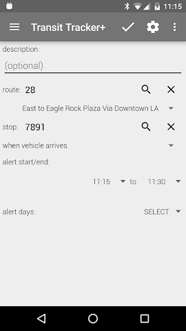 android Transit Tracker+ - Metro Screenshot 4