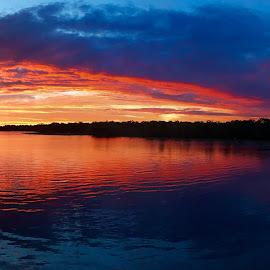 Julington Creek by Mark Smith - Landscapes Waterscapes ( julington creek, sunset )