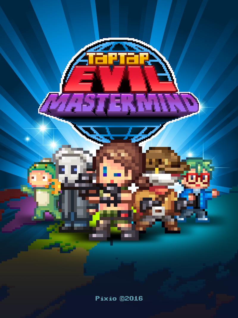 Tap Tap Evil Mastermind - Pixel Idle Clicker Screenshot 9