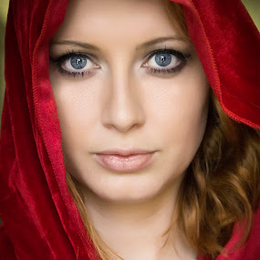 Haunting Beauty by Barry Blaisdell - People Portraits of Women ( model, gorgeous, beautiful, blue eyes, eyes )