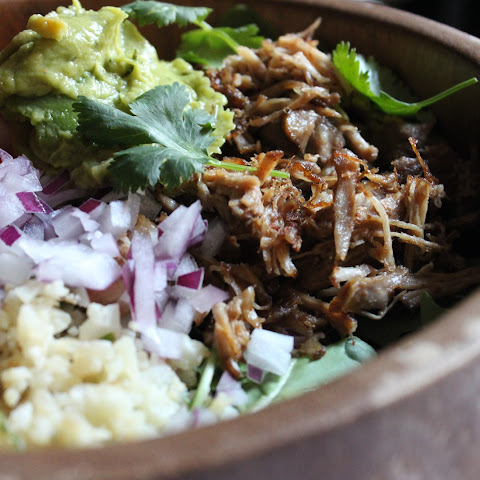 Pork Carnitas with Cilantro-Lime Cauliflower Rice.