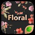 Floral GO Keyboard Theme Emoji