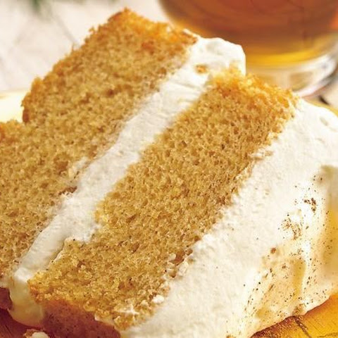 Pumpkin Angel Food Cake with Ginger-Cream Filling