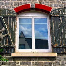 Window by Dobrin Anca - Instagram & Mobile iPhone ( wood, window, street, brittany, interesting )