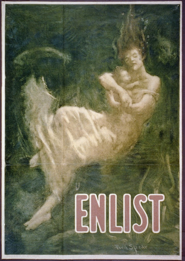 On May 7, 1915, the RMS <i>Lusitania,</i> a British ocean liner, was sunk by a German submarine. This poster employs religious imagery to depict the <i>Lusitania</i> disaster.