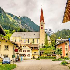 Alpine City by Linda Brueckmann - City,  Street & Park  Neighborhoods