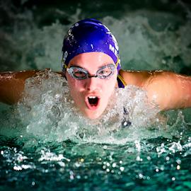 Oxygen by Bob Grandpre - Sports & Fitness Swimming ( butterfly, pool, swim meet, aberdeen, meet, swimming,  )