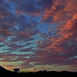 Storm of Color by Deb Bulger - Landscapes Weather ( cloud formations, mountains, monsoon, colorful, silhouette, weather, storm clouds )