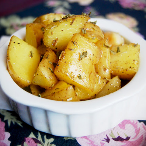 Oven- Baked Rosemary-Garlic Potatoes