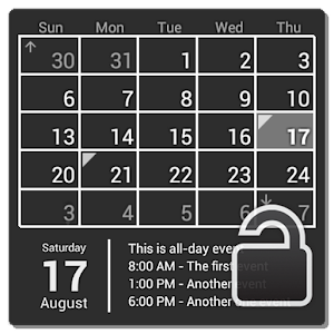 Cover art Calendar Widget (key)