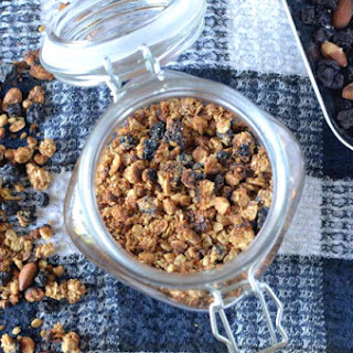 Sweet and Salty Blueberry Almond Granola