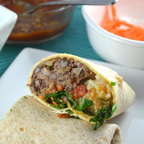 Red Rice and Chili Lime Black Bean Burritos