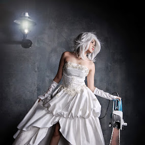 White Angry Bride by Aji Patria - People Fashion