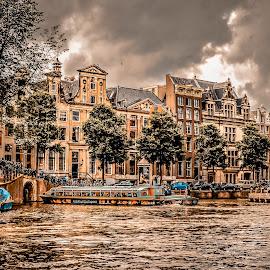 Canal side Avenue by Prasanta Das - Buildings & Architecture Public & Historical ( canal side, avenue, buildings )