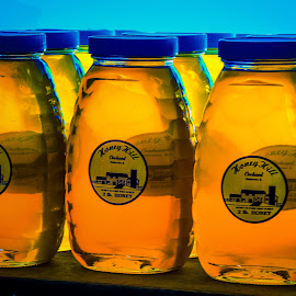 Honey Jars by James Kirk - Food & Drink Ingredients ( gold, jars, honey )