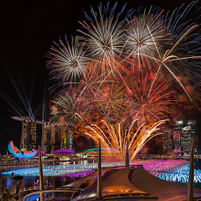 Countdown Fireworks by Joseph Goh Meng Huat - Public Holidays New Year's Eve