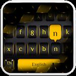 Black Gold Metal Keyboard Icon