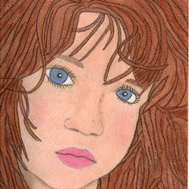 The Little Girl by Melanie Goins - Drawing All Drawing ( pastels, girl, colored pencils, artwork, sketch pad,  )