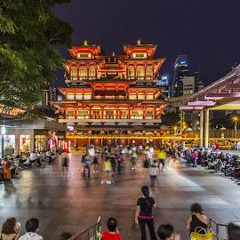 Buddha Tooth Relic Temple by Benny Ng - City,  Street & Park  Historic Districts ( temple, cityscape, landscape, buddha )