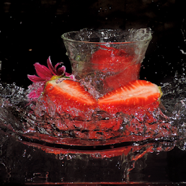 strawberry in glass by LADOCKi Elvira - Food & Drink Fruits & Vegetables ( fruits )