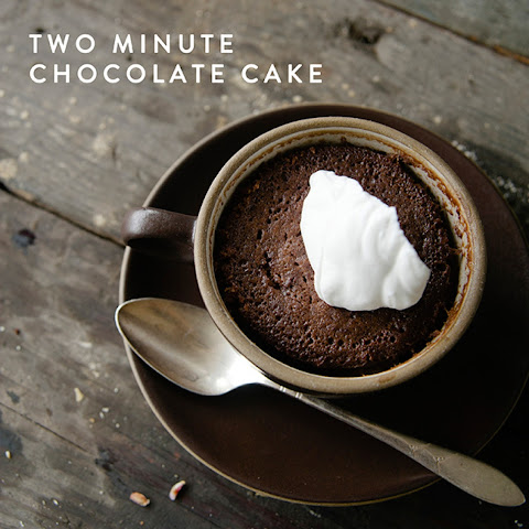 Two Minute Chocolate Cake