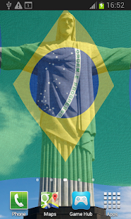 Brazil Flag Live Wallpaper - screenshot