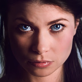 Marte by Bendik Møller - People Portraits of Women ( portraiture, model, portrait photographers, portraits of women, blue, color, female, woman, close up, portrait, eyes )