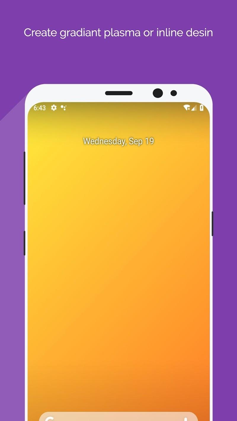 Wallpaper Maker - Best Plasma Gradiant background Screenshot 3