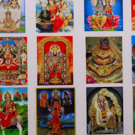 Many Gods by Agya Singh - Artistic Objects Other Objects ( faith, colors, india, gods, hindu.diety )