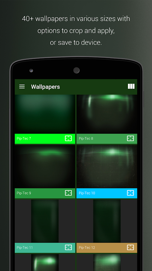PipTec Green Icons & Live Wall Screenshot 6