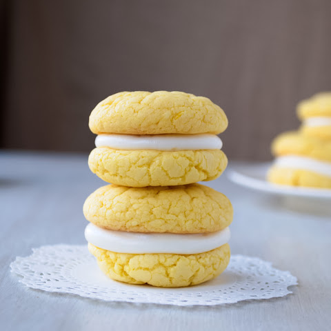 Lemon Velvet Cookies with Cream Cheese Frosting