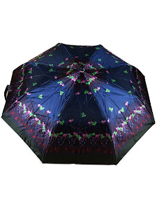 "Зонт ""Компакт L"", 110см, темно-синий, фиолетовый"
