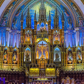 Notre Dame Basilica by Brandon Moffitt - Buildings & Architecture Places of Worship ( notre-dame basilica, montreal, church, architectural detail, architecture )