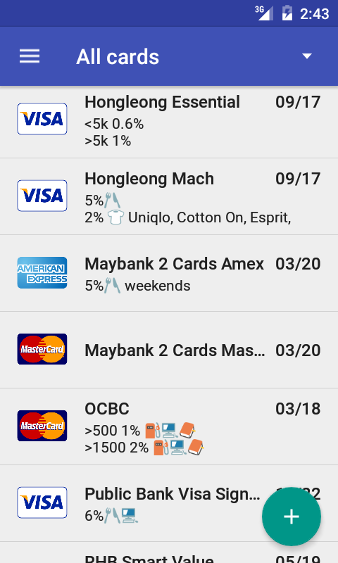 Credit Card Manager Pro Screenshot 0