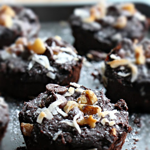 1- Blender Turtle Black Bean Brownies (Grain free, GF, Refined Sugar Free, Vegan)