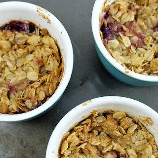 Individual Pear and Blueberry Crisp
