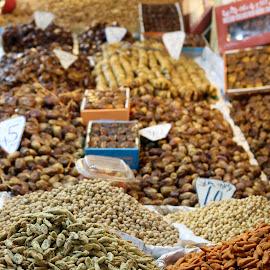 Treats A Plenty by Patti VanBuskirk - Novices Only Objects & Still Life ( #africa, #sweats, #market, #marrakech, #morocco )