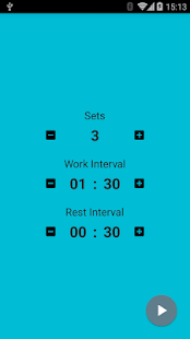 Interval Timer Fitness app screenshot for Android
