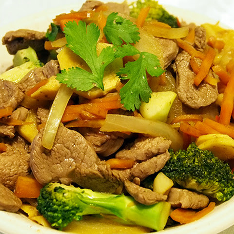 LAMB STIR FRY WITH GINGER