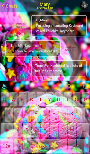 Fruit Ice Cream Keyboard Theme - screenshot