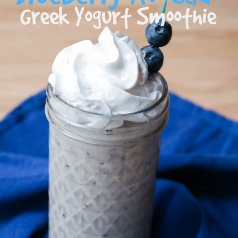 Blueberry Avocado Greek Yogurt Smoothie