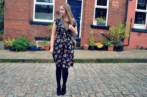 Leeds blogger in floral dress