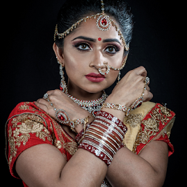 Indian Bride by Paul Phull - People Portraits of Women ( potrait, colorful, jewellery, wedding, indian, indian bride )
