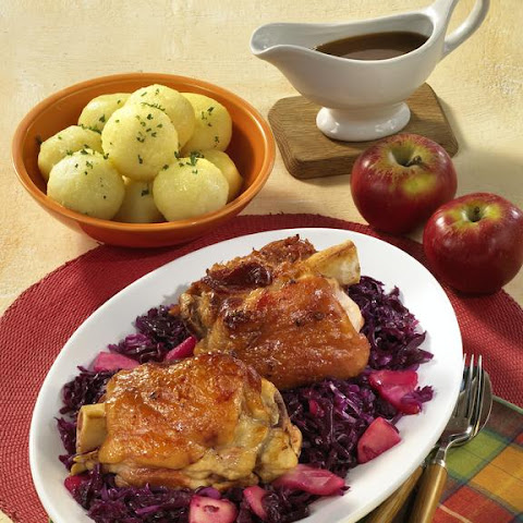 Ham Hocks with Braised Red Cabbage