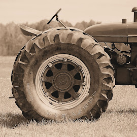 Big Wheel by David W Hubbs - Transportation Other ( wheel, old tractor, tractor tire, vintage tractor, tractor )