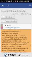 Screenshot of DrWidget Interakcje