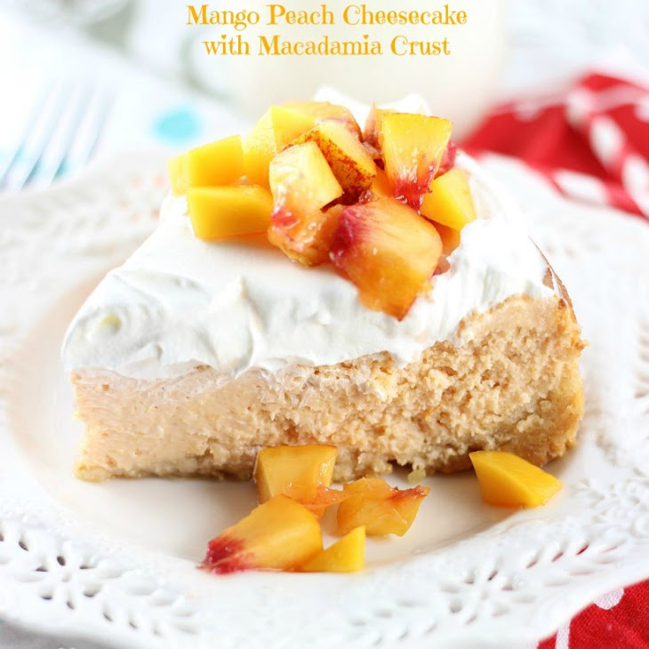 Mango Peach Cheesecake with Macadamia Crust Recipe | Yummly